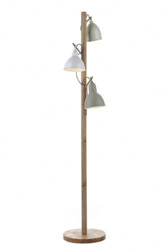Dar Blyton 3 Light Floor Lamp complete with Painted Shade BLY4943 (Class 2 Double Insulated)